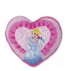 Princess srdíčko polštářek Ilanit 17 cm