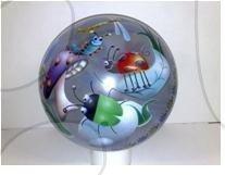 Lopta priesvitná zvieratká gumová 230 mm