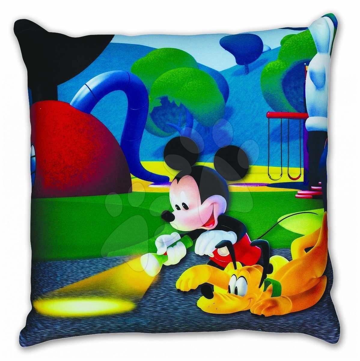 Plyšové vankúše - Vankúš Mickey Mouse Club House Ilanit s mikroguľôčkami