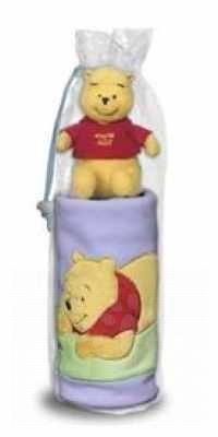 Darčekové balenie deka + Macko Pooh a priatelia Ilanit 100 cm