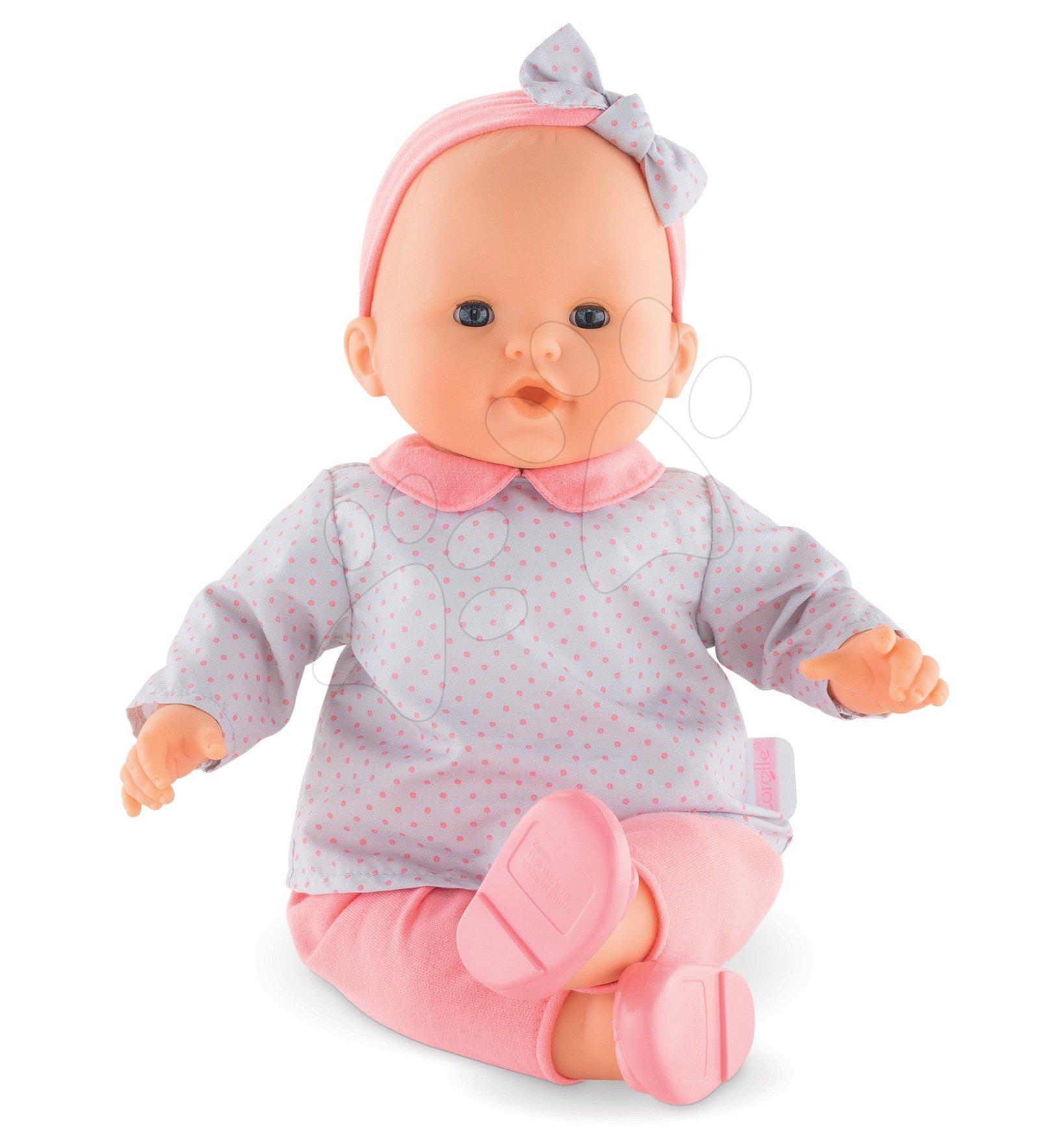 Panenky od 24 měsíců - Panenka Louise Mon Grand Poupon Corolle 36 cm s modrýma mrkacími očima od 24 měs