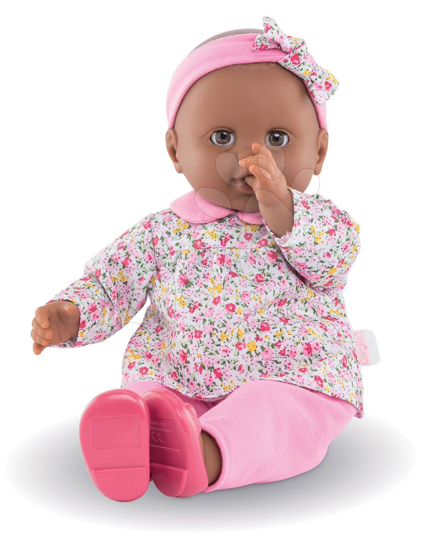 Panenky od 24 měsíců - Panenka Lilou Floral Mon Grand Poupon Corolle 36 cm s hnědými mrkacími očima od 24 měs