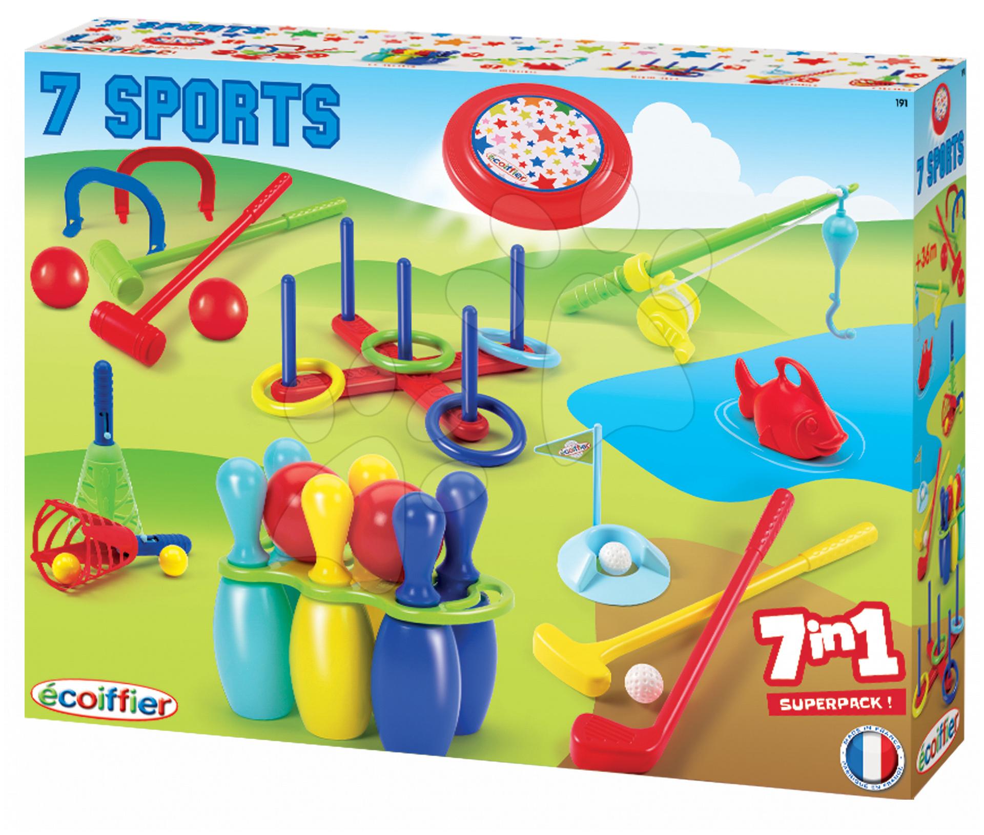 Sportovní set 7 her Jardin Saisons Écoiffier