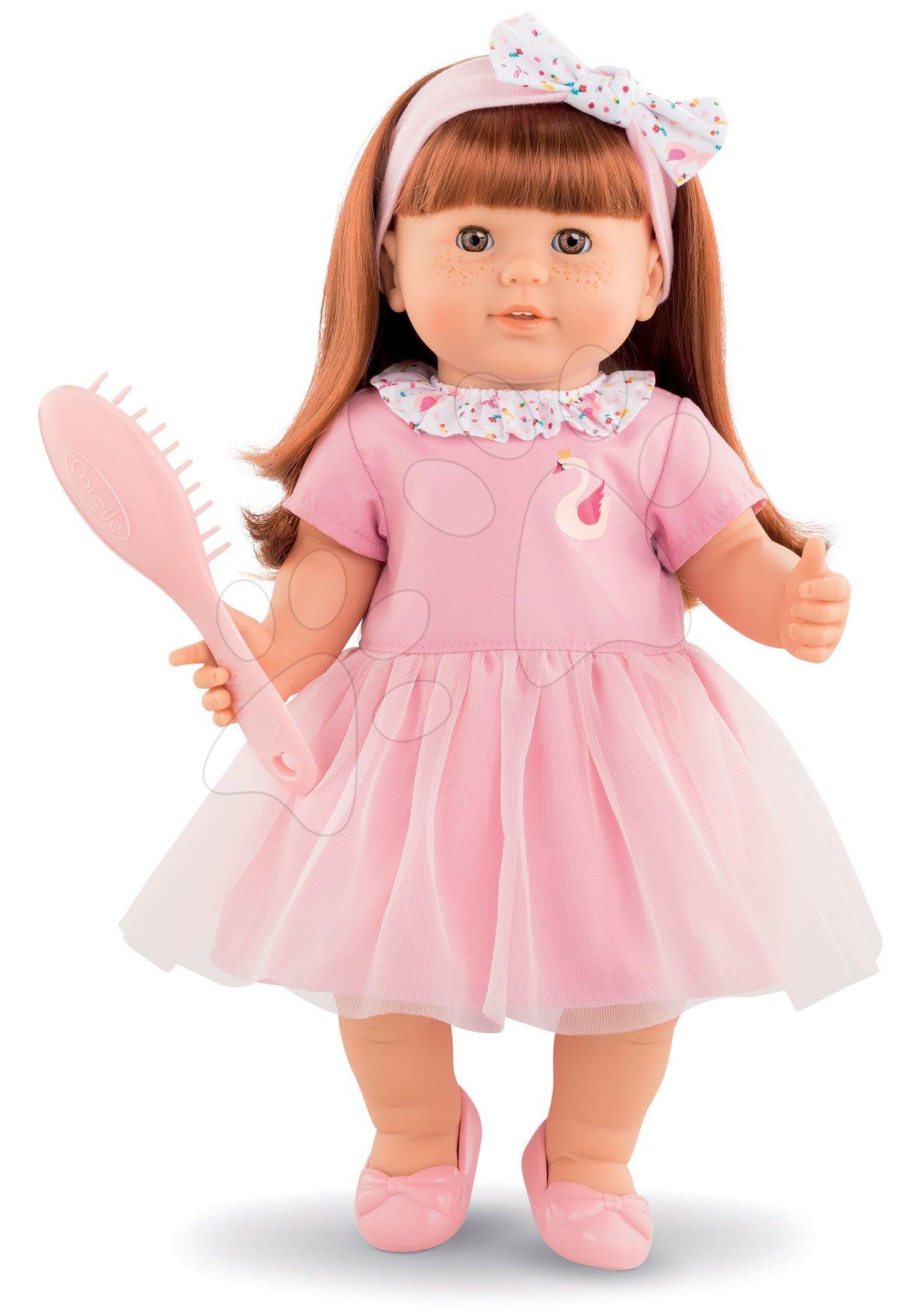 Panenka Ambre s zrzavými vlasy Mon Grand Poupon Corolle 36 cm s hnědými mrkacími očima a hřebenem od 3 let