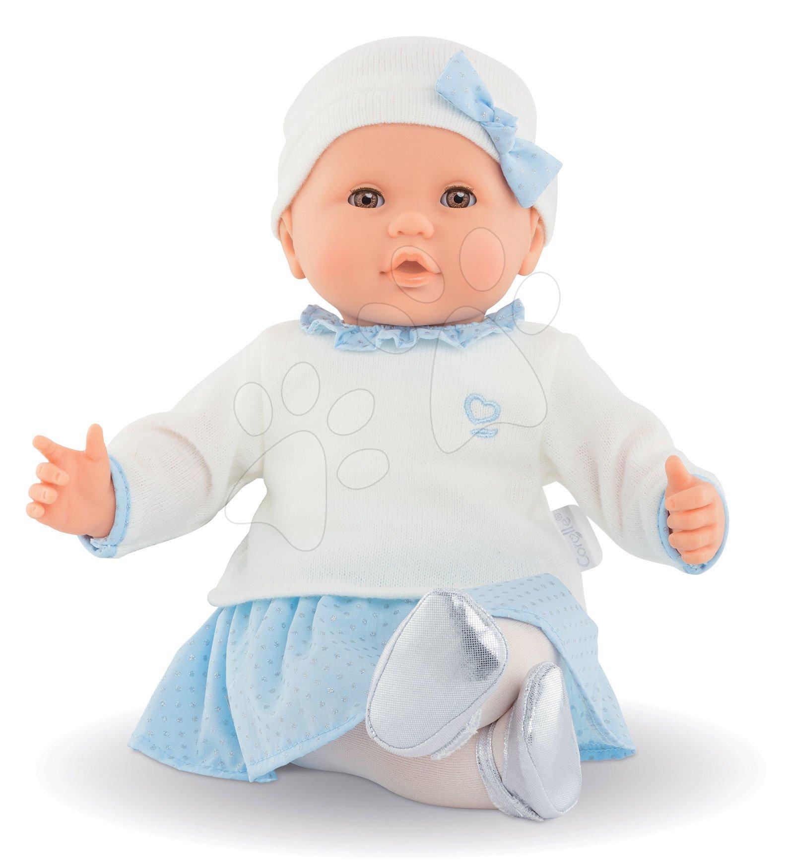 Panenky od 24 měsíců - Panenka Anais Winter Sparkle Mon Grand Poupon Corolle 36 cm s hnědýma mrkacíma očima od 24 měsíců