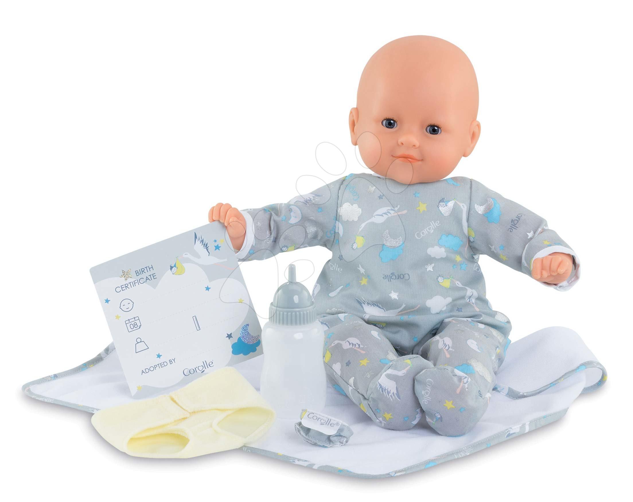 Panenky od 24 měsíců - Panenka novorozenec My New Born Child Mon Grand Poupon Corolle 36 cm s modrými mrkacími očima od 24 měs