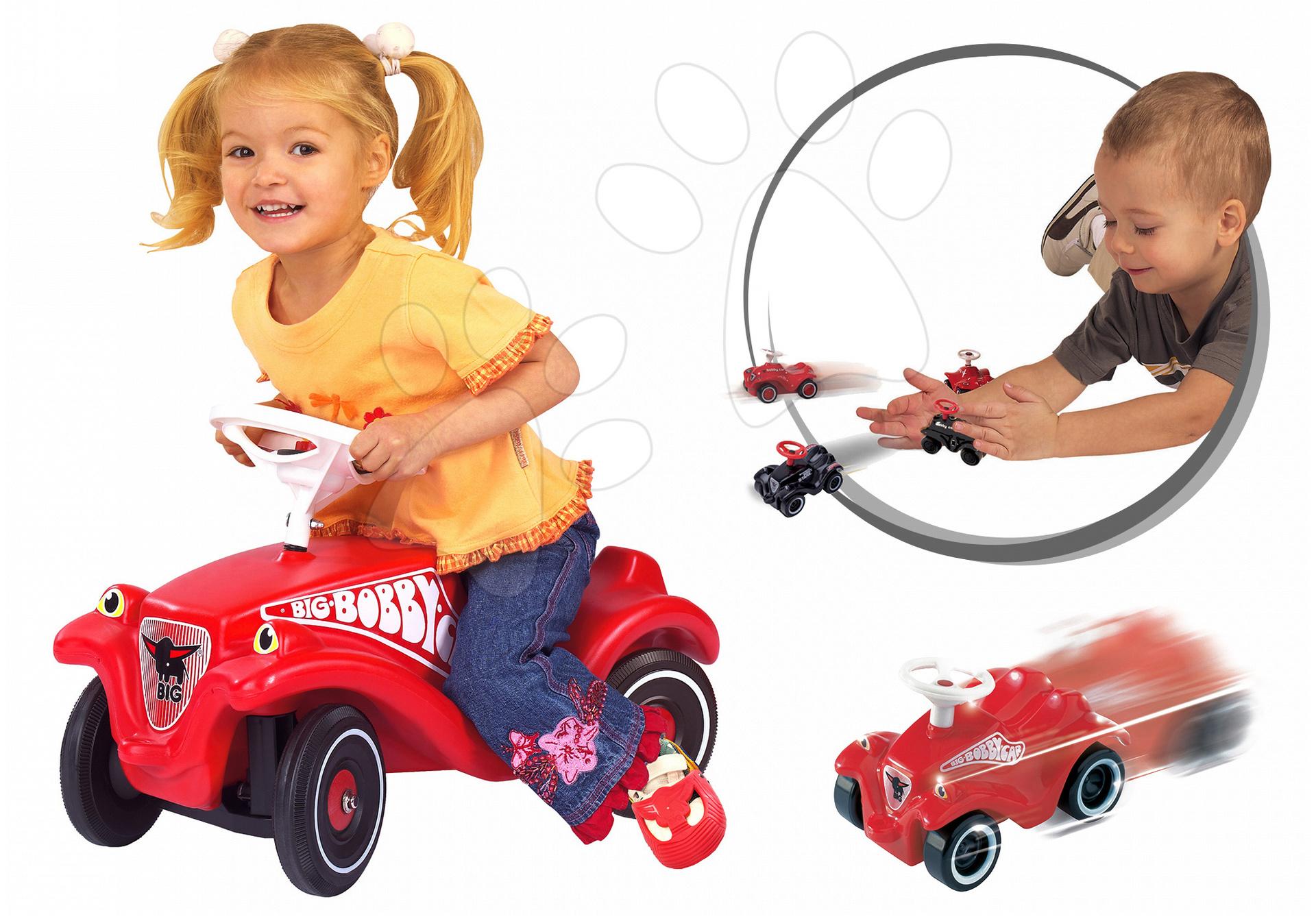 BIG dětské odrážedlo Bobby Classic a autíčko Mini Bobby 01303-1 červené