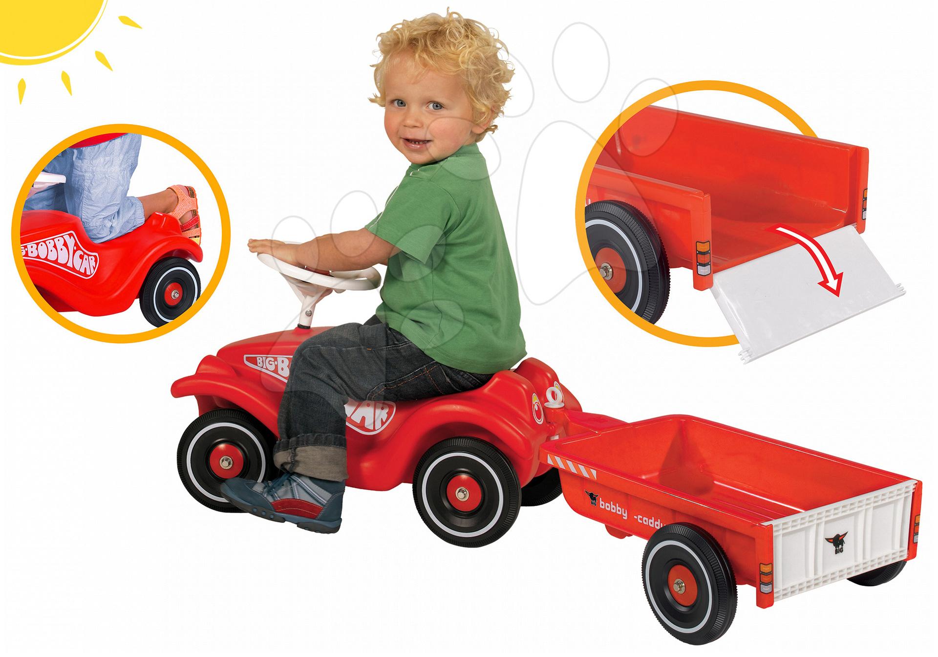 BIG odrážedlo Bobby Classic a přívěsný vozík červený 01303-8