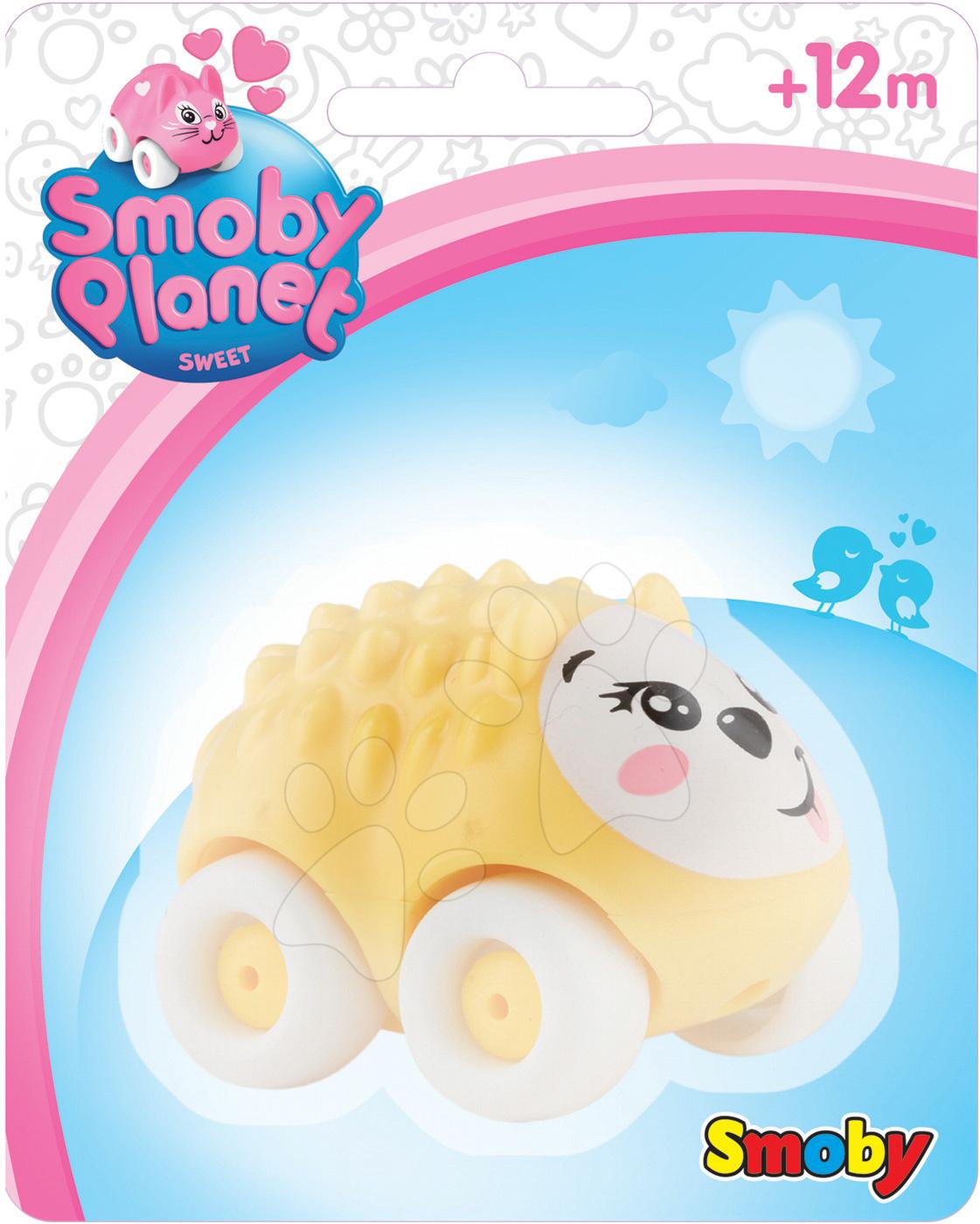 Zvířátko na kolečkách Sweet Planet Smoby pejsek, ježek, zajíček, myška, kočička, kravička 7 cm na kartě od 12 měsíců
