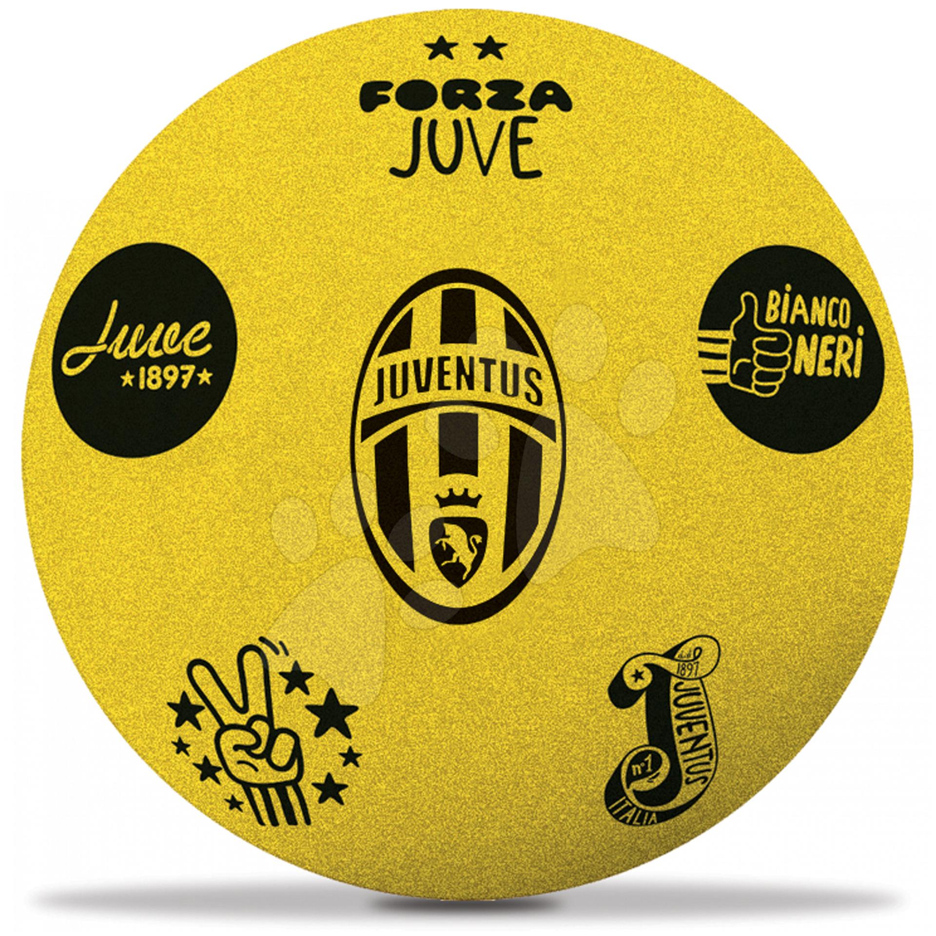 Staré položky - Penová lopta F.C. Juventus Mondo žltá 20 cm