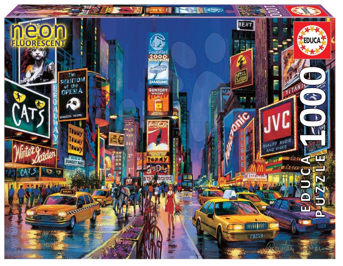 Puzzle Neon Series, Neon Times Square Educa 1000 dielov od 12 rokov