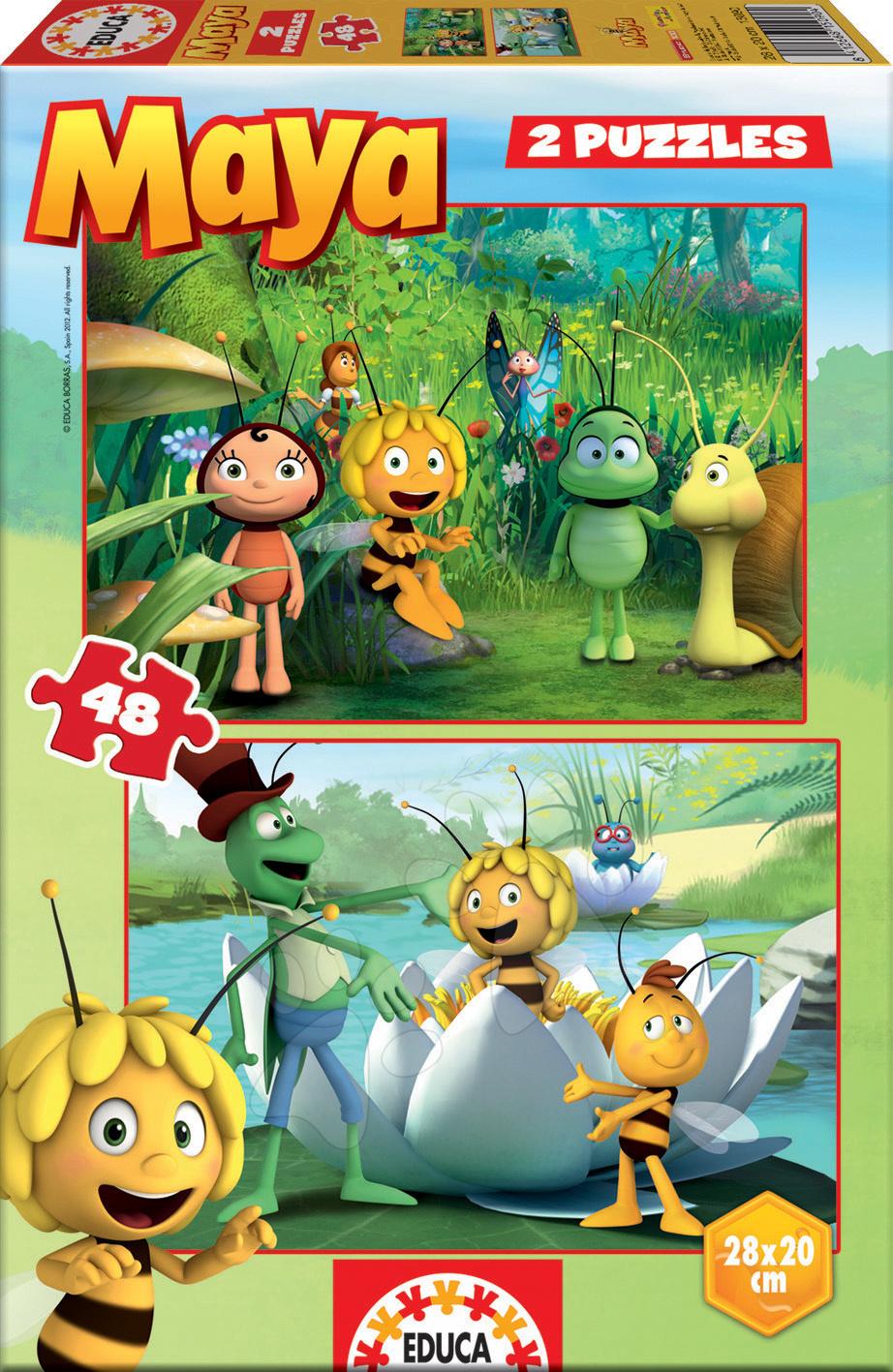 Puzzle Včielka Maja Educa 2x 48 dielov