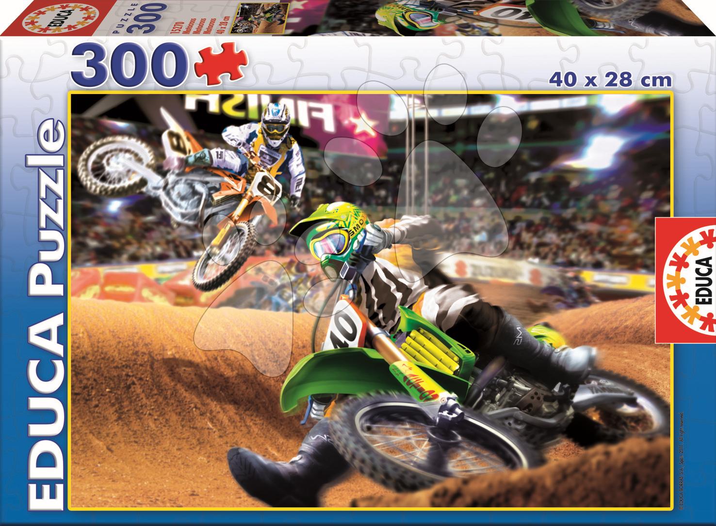 Puzzle Junior Motocross Educa 300 dielov od 8 rokov