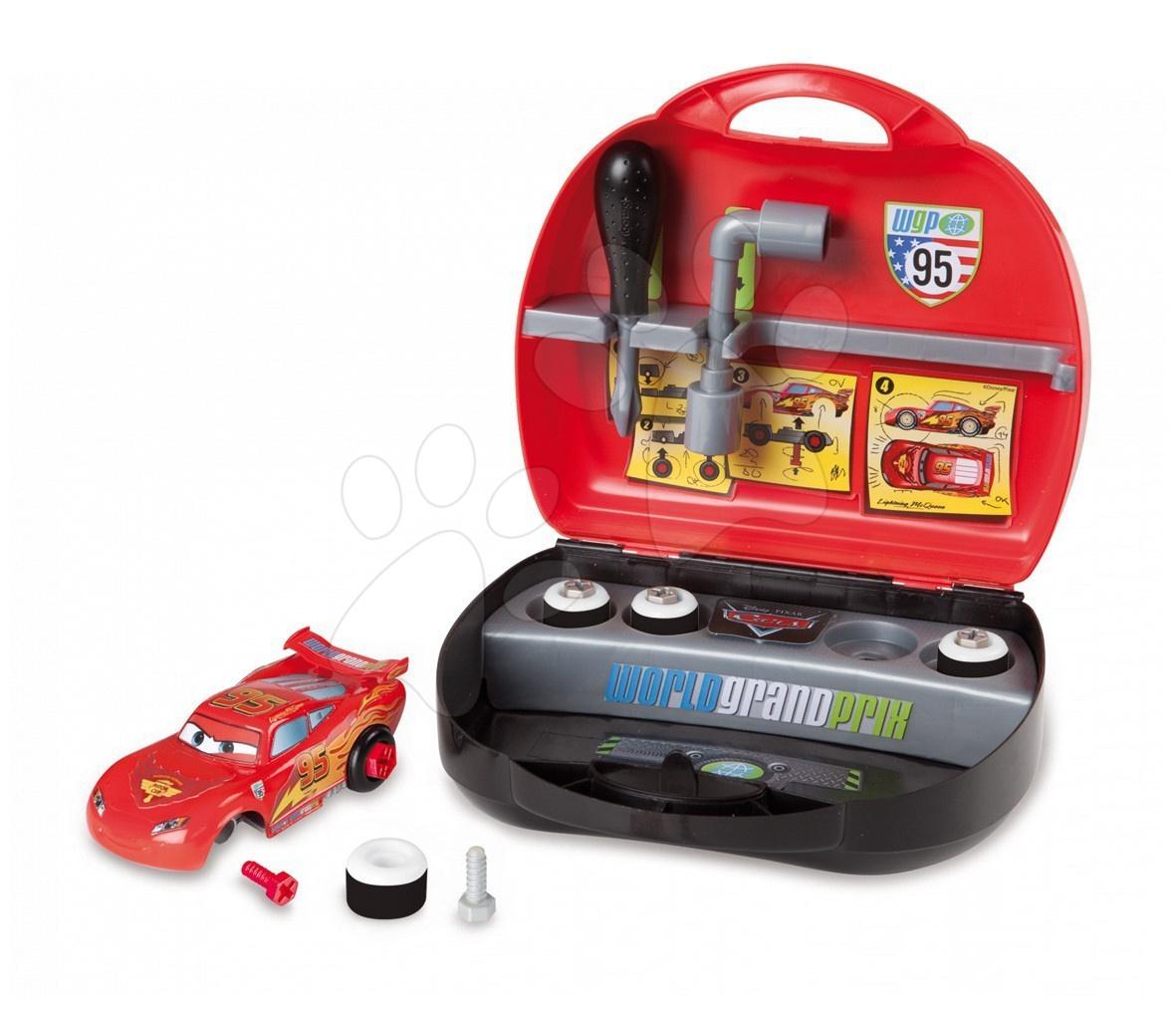 Cars Customize Box - Mini Mc Queen kufřík Smoby a auto
