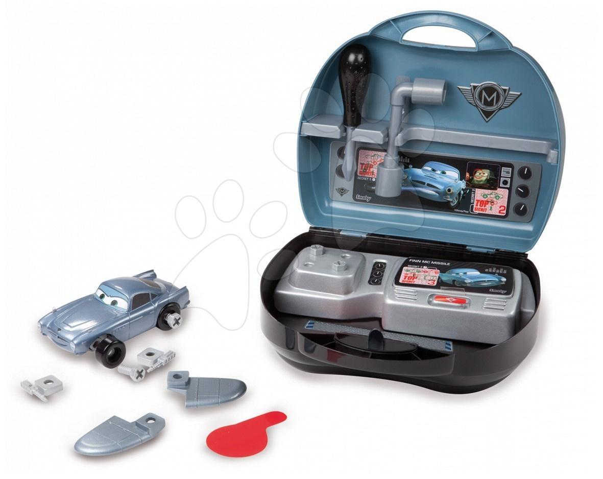 Staré položky - Pracovní kufřík Cars Customize Box Smoby s autíčkem Finn