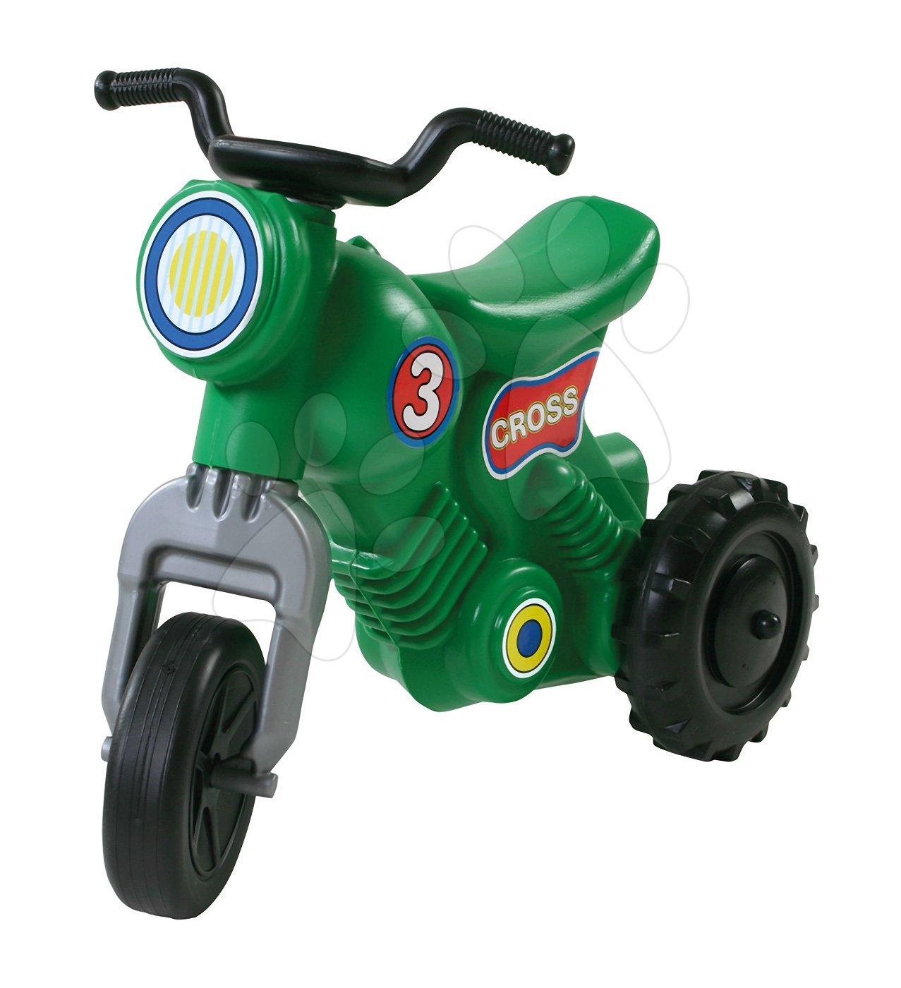 Motorky - Odrážadlo Cross 3 Motorbike Dohány zelené