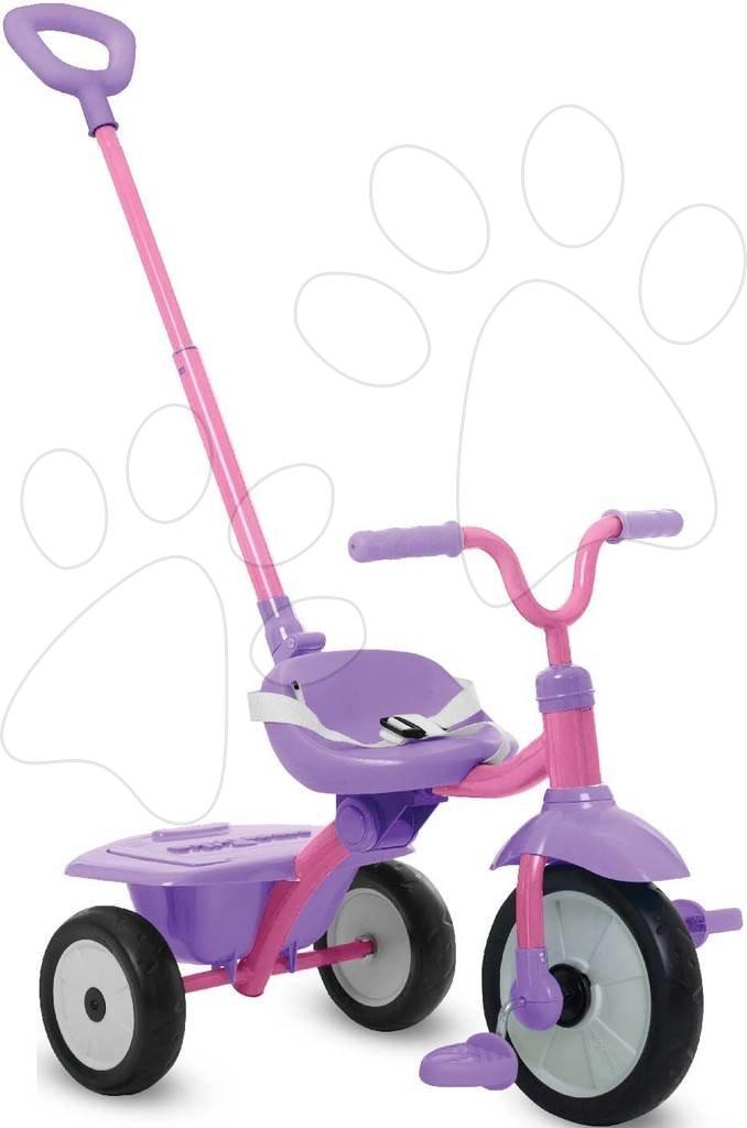 Trojkolka skladacia Folding Fun Trike 2in1 Pink smarTrike ružová s bezpečnostným pásom od 15 mes