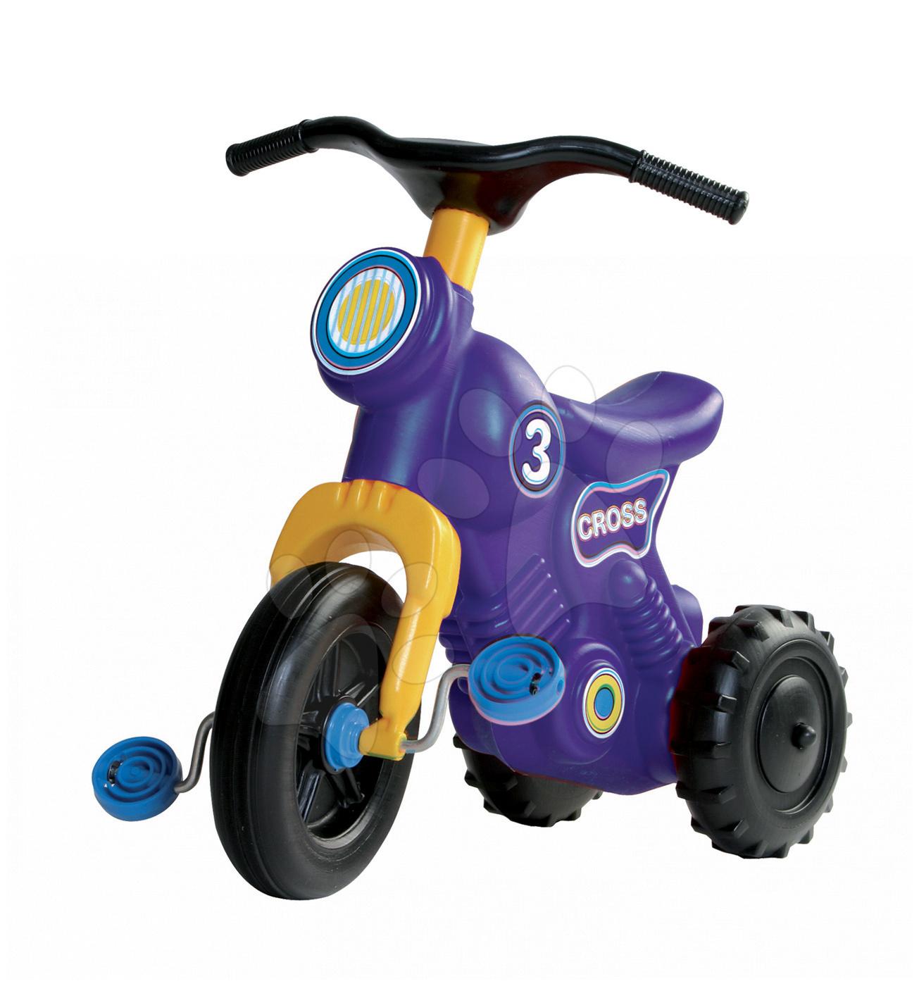 Motorky - Odrážadlo Cross 3 Motorbike Dohány s pedálmi