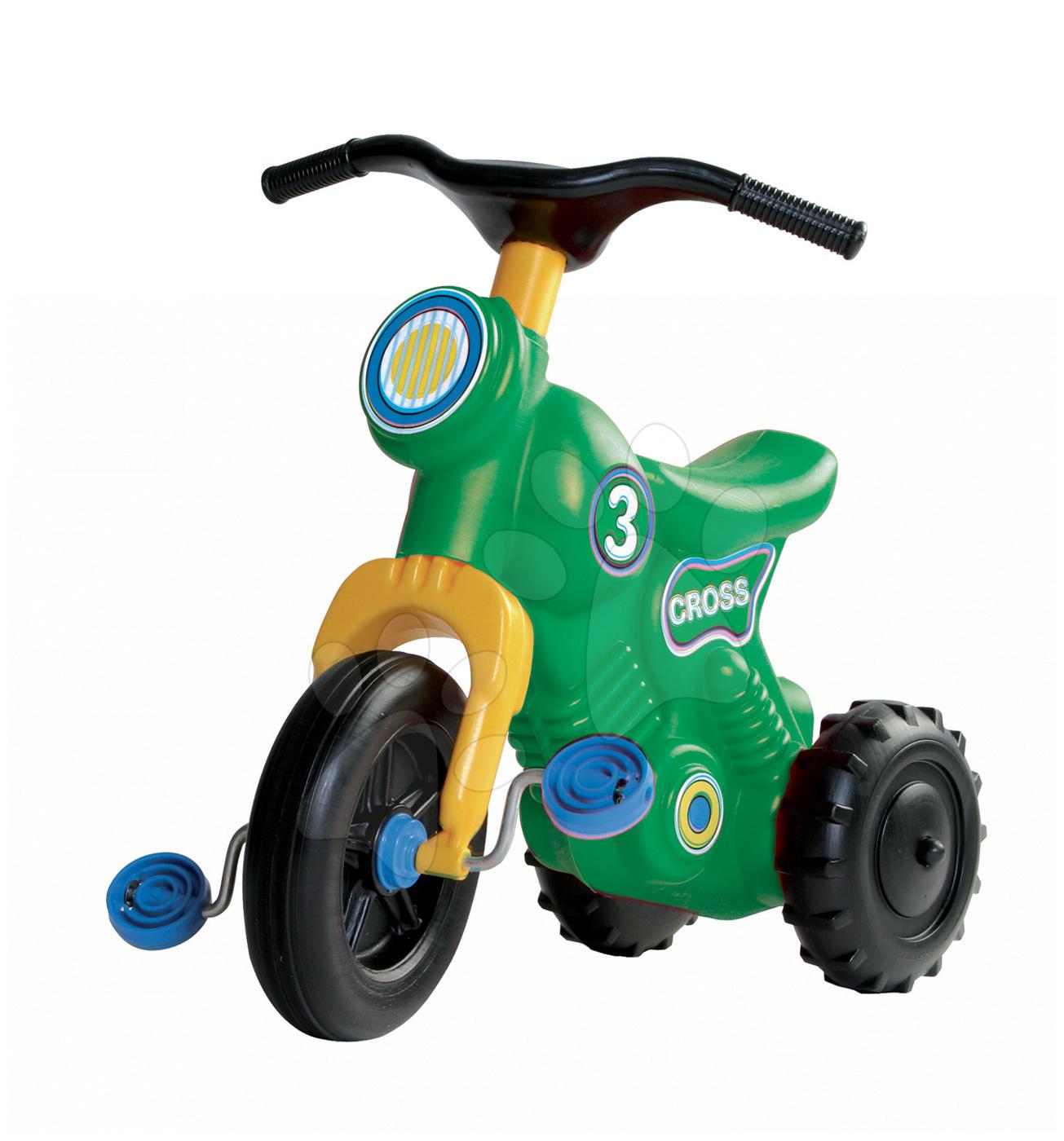 Odrážedlo Cross 3 Motorbike Dohány s pedály, zelené