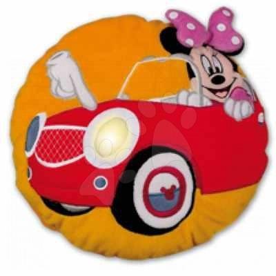 Plyšové vankúše - Vankúš Mickey Mouse Minnie Ilanit so svetlom