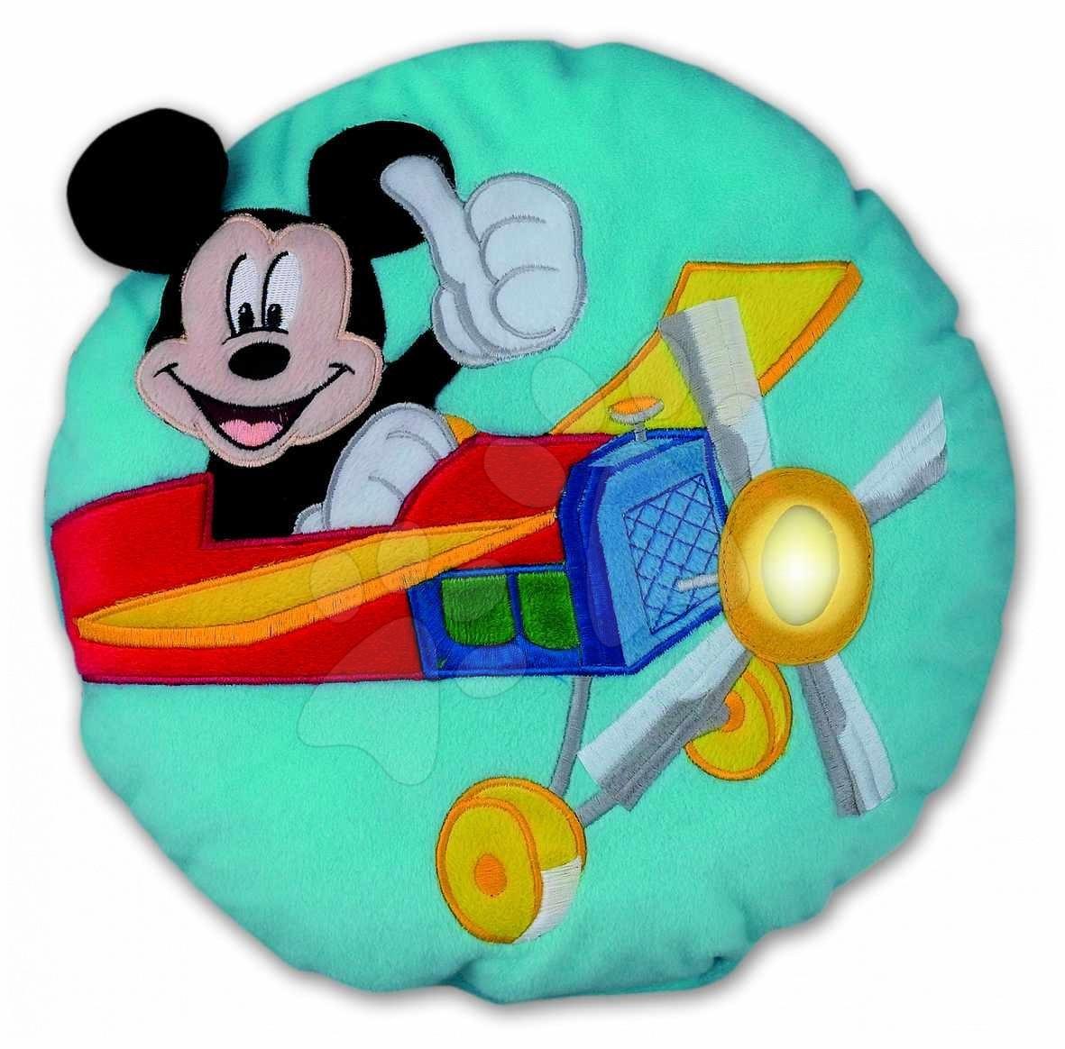Plyšové vankúše - Vankúš Mickey Mouse Ilanit so svetlom