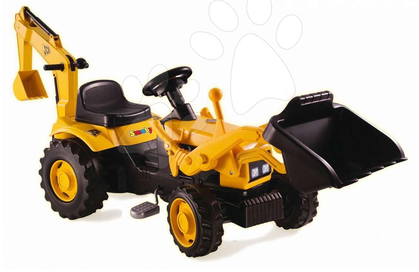 Traktor s nakladačem Smoby žlutý a s bagrem