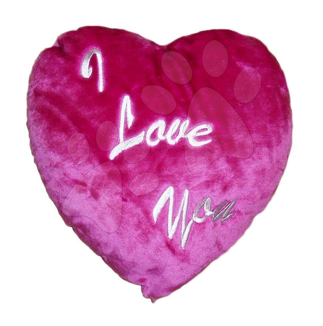 Pernă mică inimioară Ilanit 36 cm roz închis
