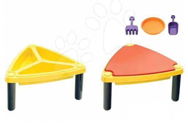 Detský záhradný nábytok - Multifunkčný stôl na hranie Starplast s krytom a s formičkami