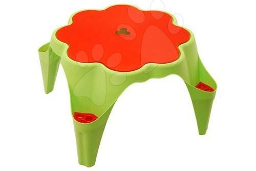 stůl na hraní s krytem Starplast zeleno oranžový ve tvaru kytičky