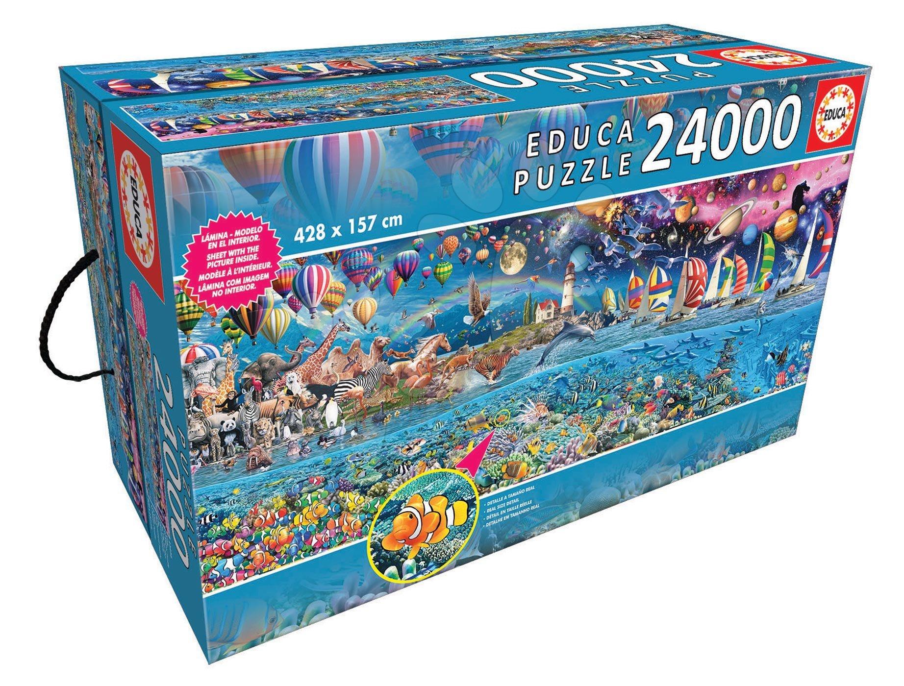 EDUCA 13434 PUZZLE 24 000 ks Life, the greatest puzzle 428*157cm