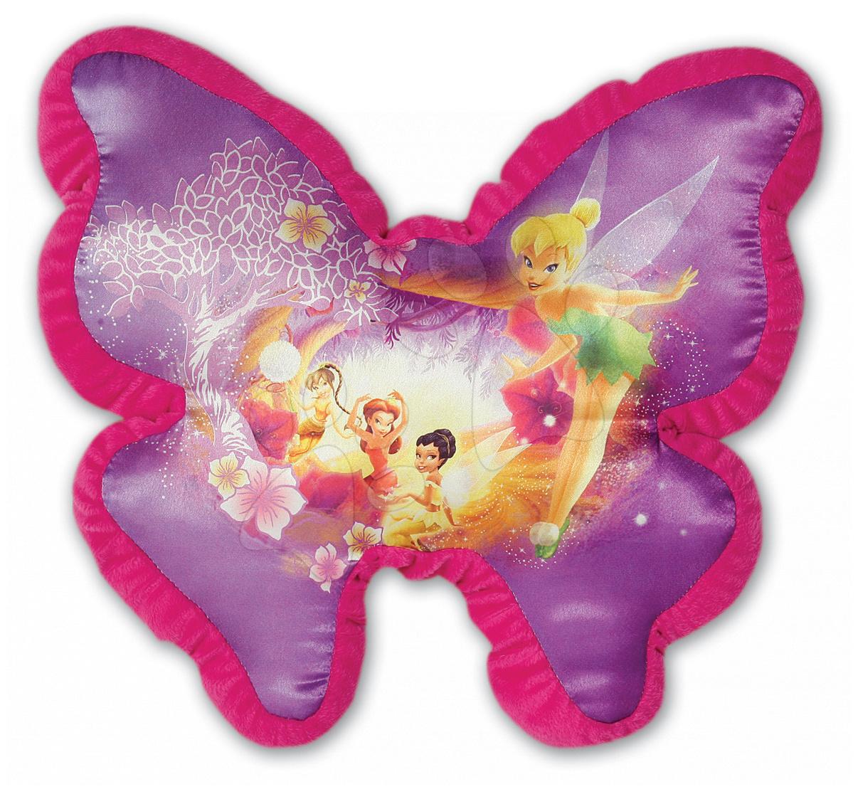 Pernă din pluş Zâne în formă de fluture Ilanit roz 36 cm