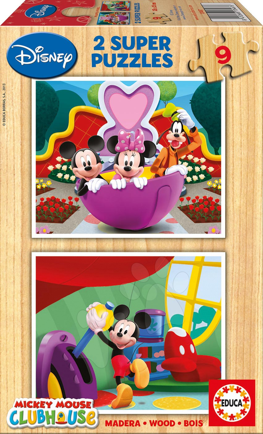 Drevené puzzle Mickey Mouse Educa 2x9 dielov od 24 mes