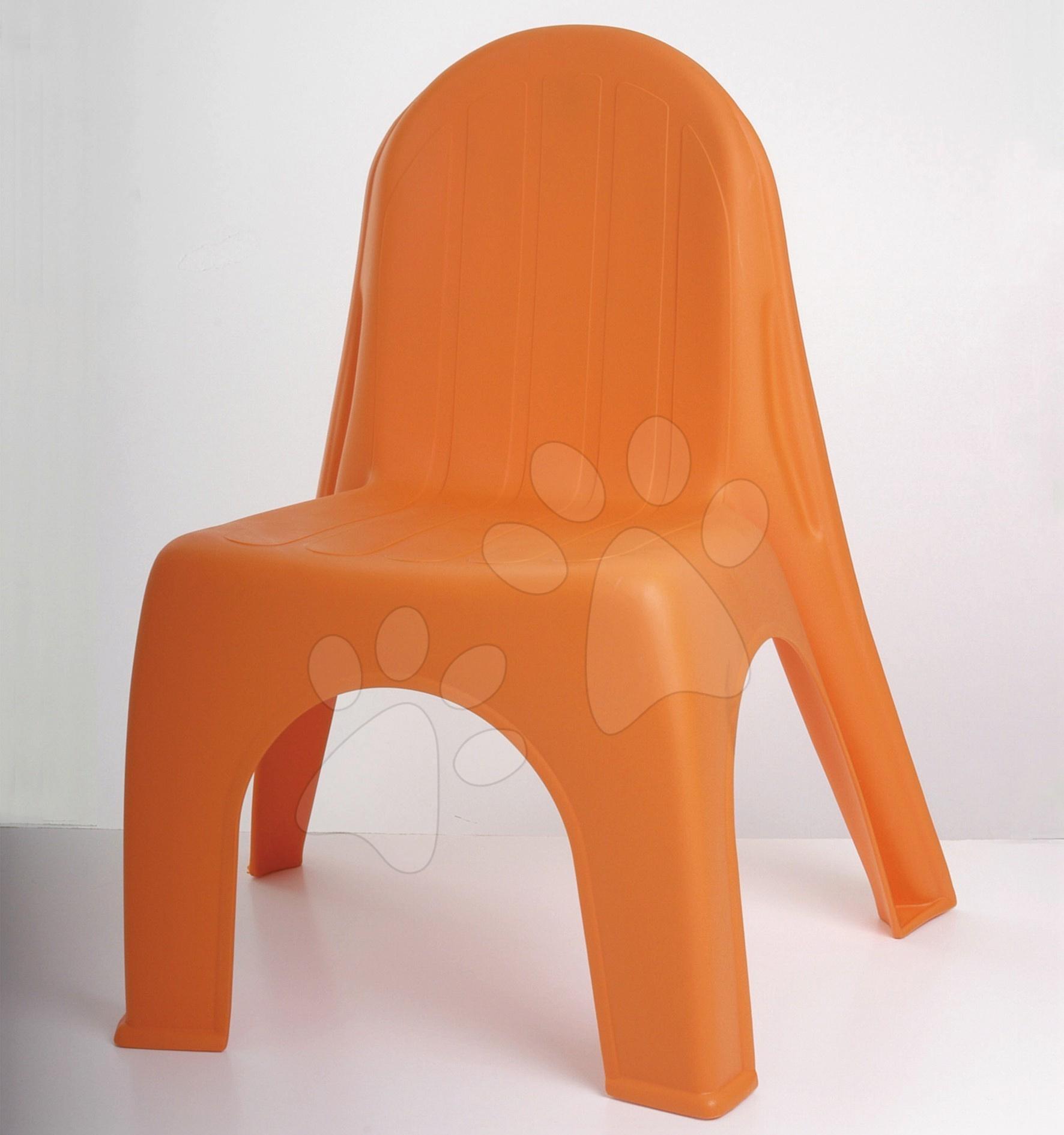 Detský záhradný nábytok - Stolička Alice Starplast matná oranžová