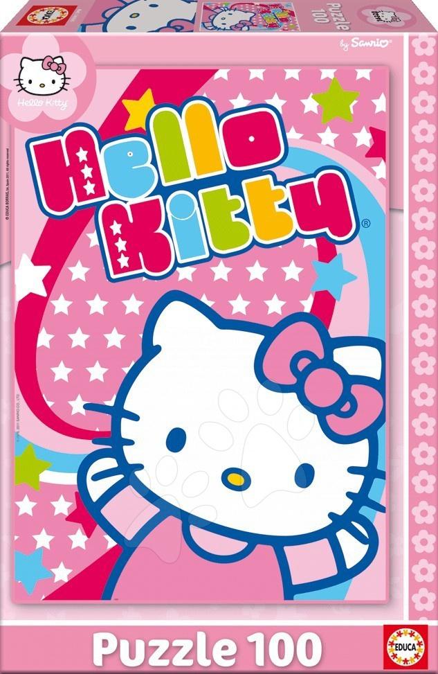 Dětské puzzle od 100–300 dílků - Puzzle Hello Kitty Educa 100 dílů od 5 let