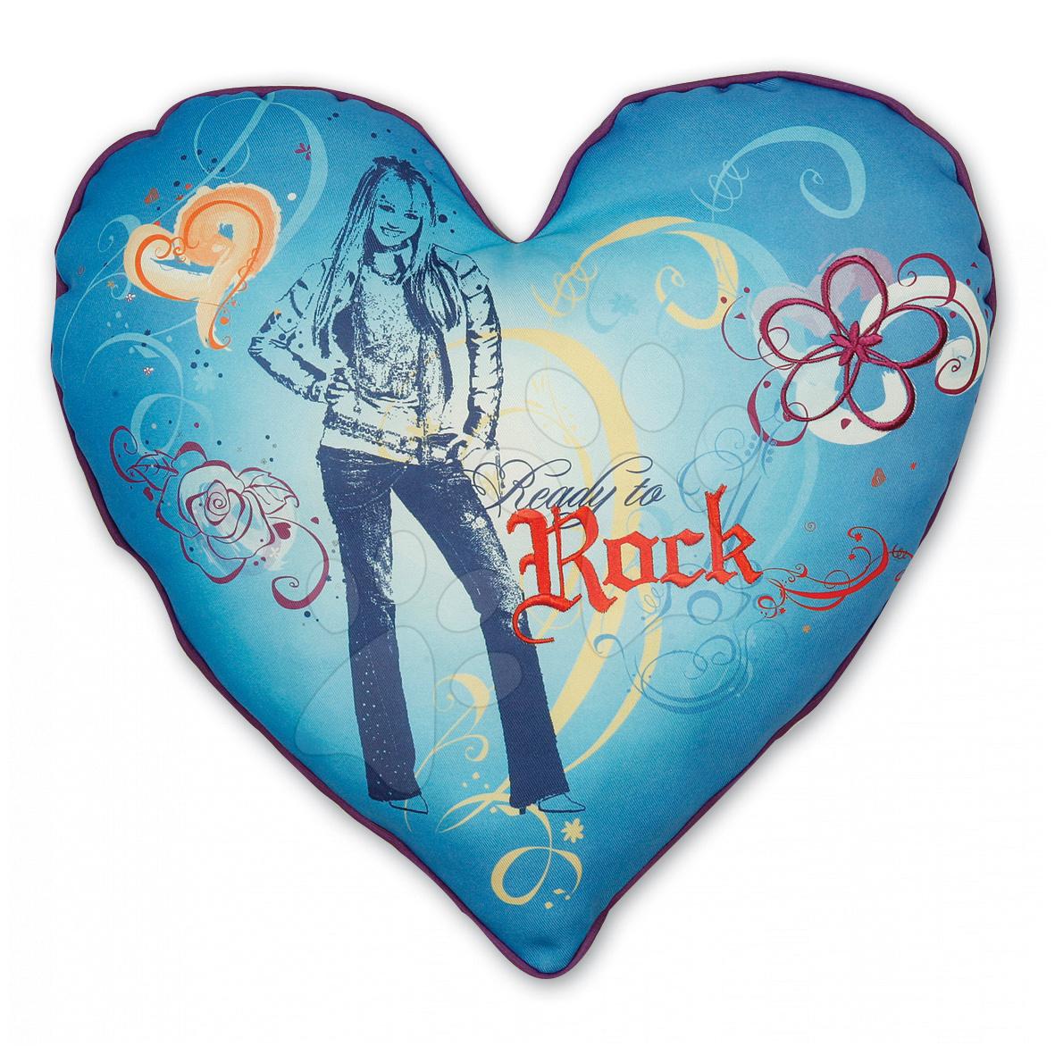 Vankúšik Hanna Montana Ilanit srdce 36 cm modrý
