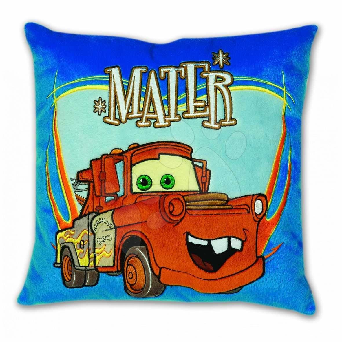 Plyšové polštáře - Polštář WD Auta Tow Mater Ilanit 36*36 cm