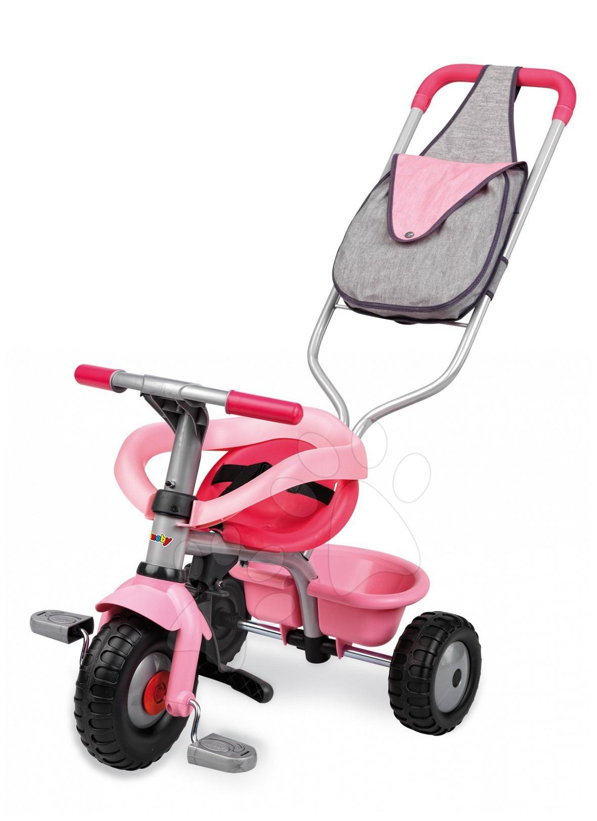 Tricikli od 10. meseca - Tricikel Be Fun Confort Smoby rožnati od 10 mes