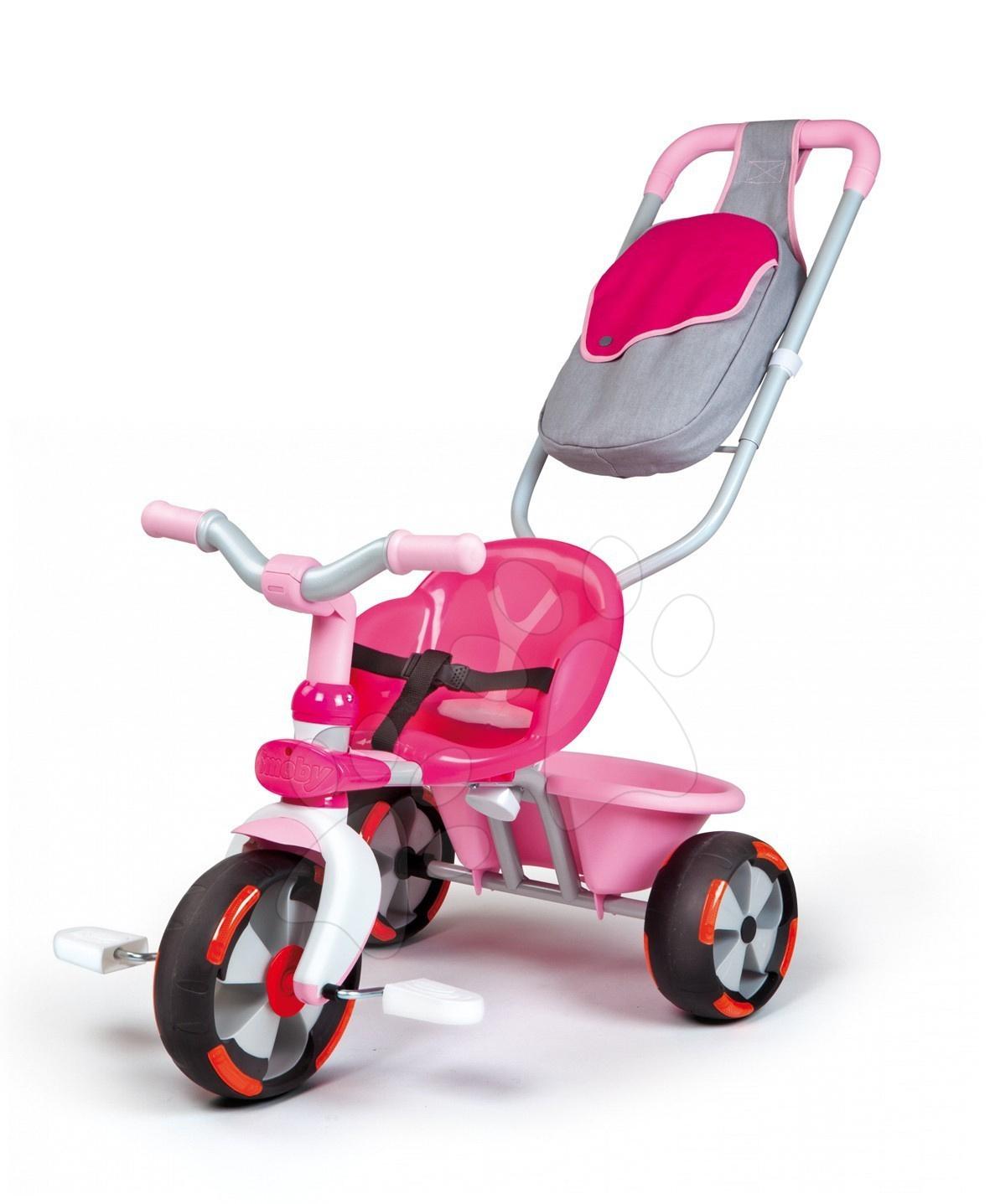 Tříkolka Baby Driver Rose Smoby růžová od 12 měsíců