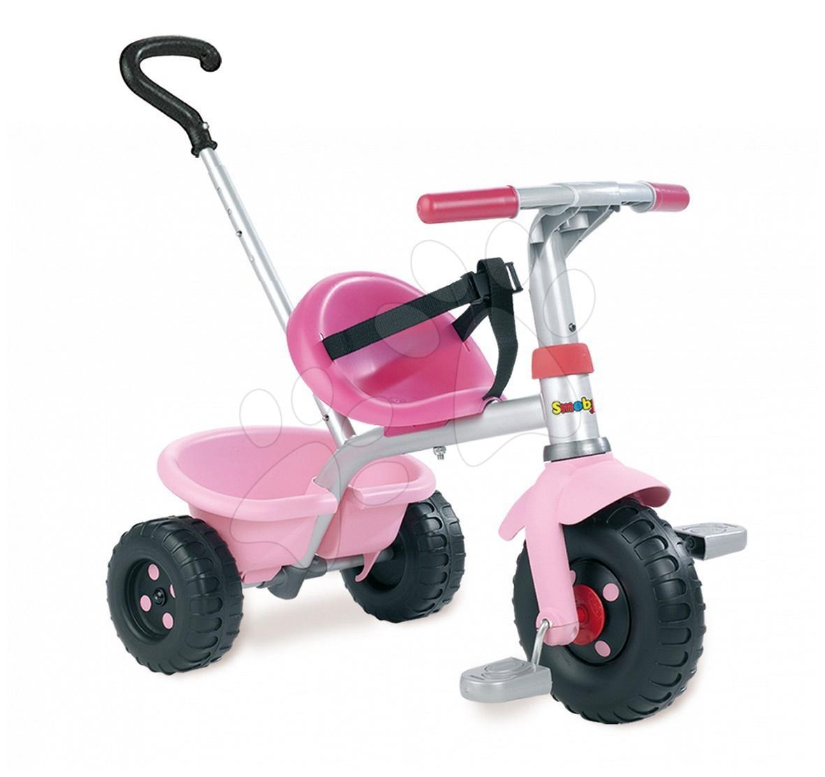 Staré položky - Tříkolka Be Fun Smoby růžová s vodicí tyčí od 15 měsíců