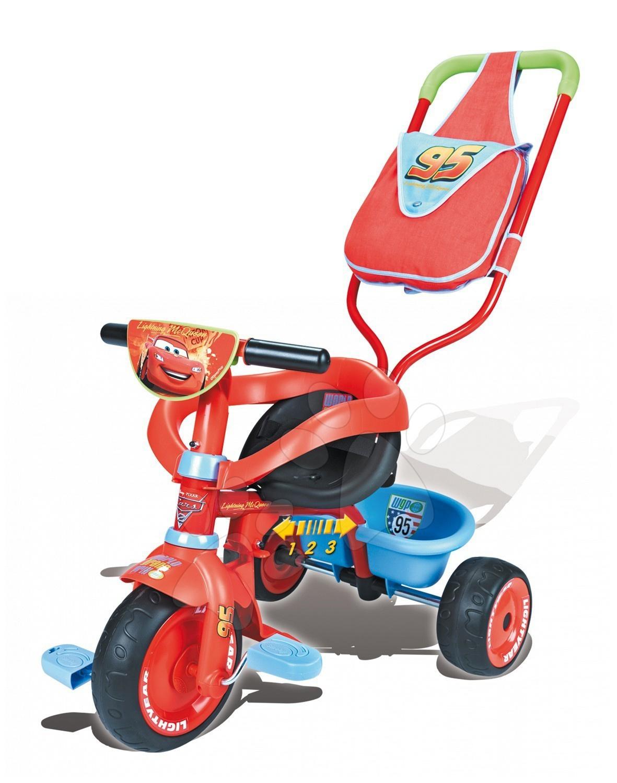 Staré položky - Tříkolka Be Fun Confort Cars Smoby s ohrádkou a s tyčí od 10 měsíců