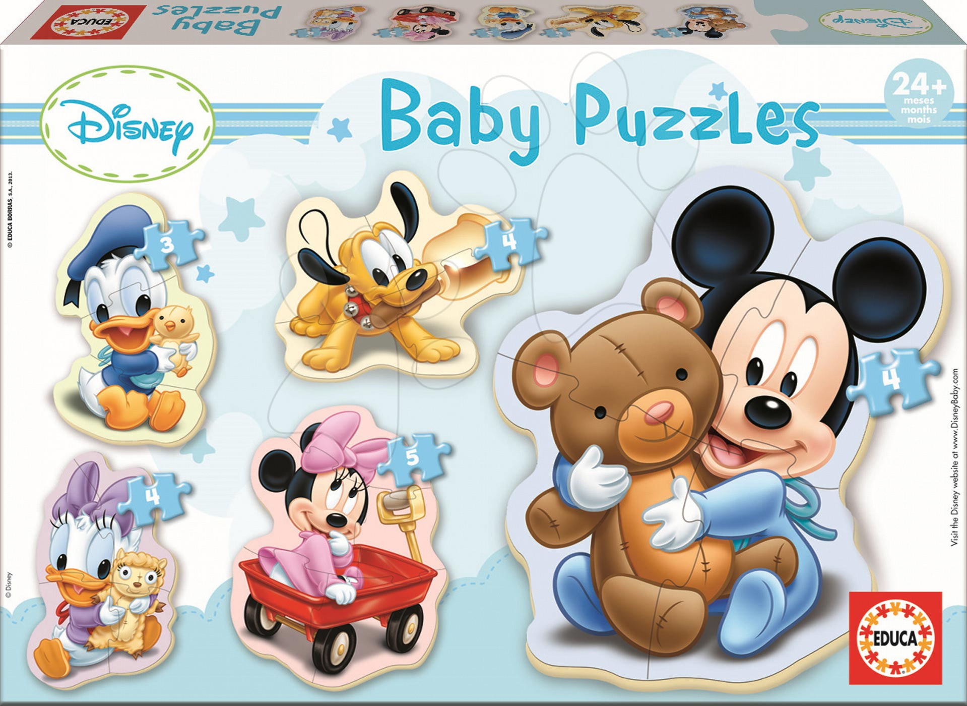 Baby puzzle Mickey Mouse Educa 5 sličic od 24 mes