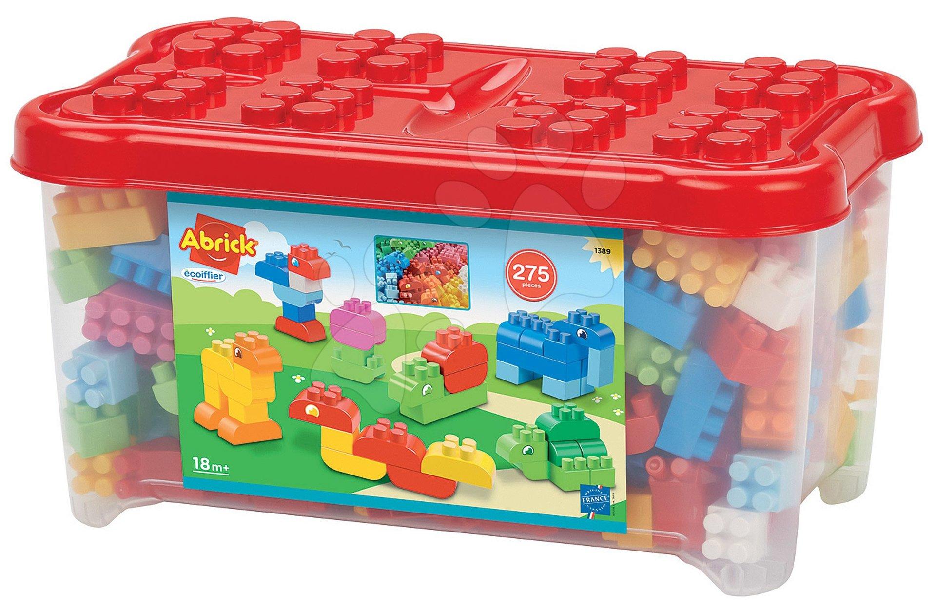 Joc de construit Abrick Écoiffier în cutie cu 275 cuburi de construit şi animale de la 18 luni