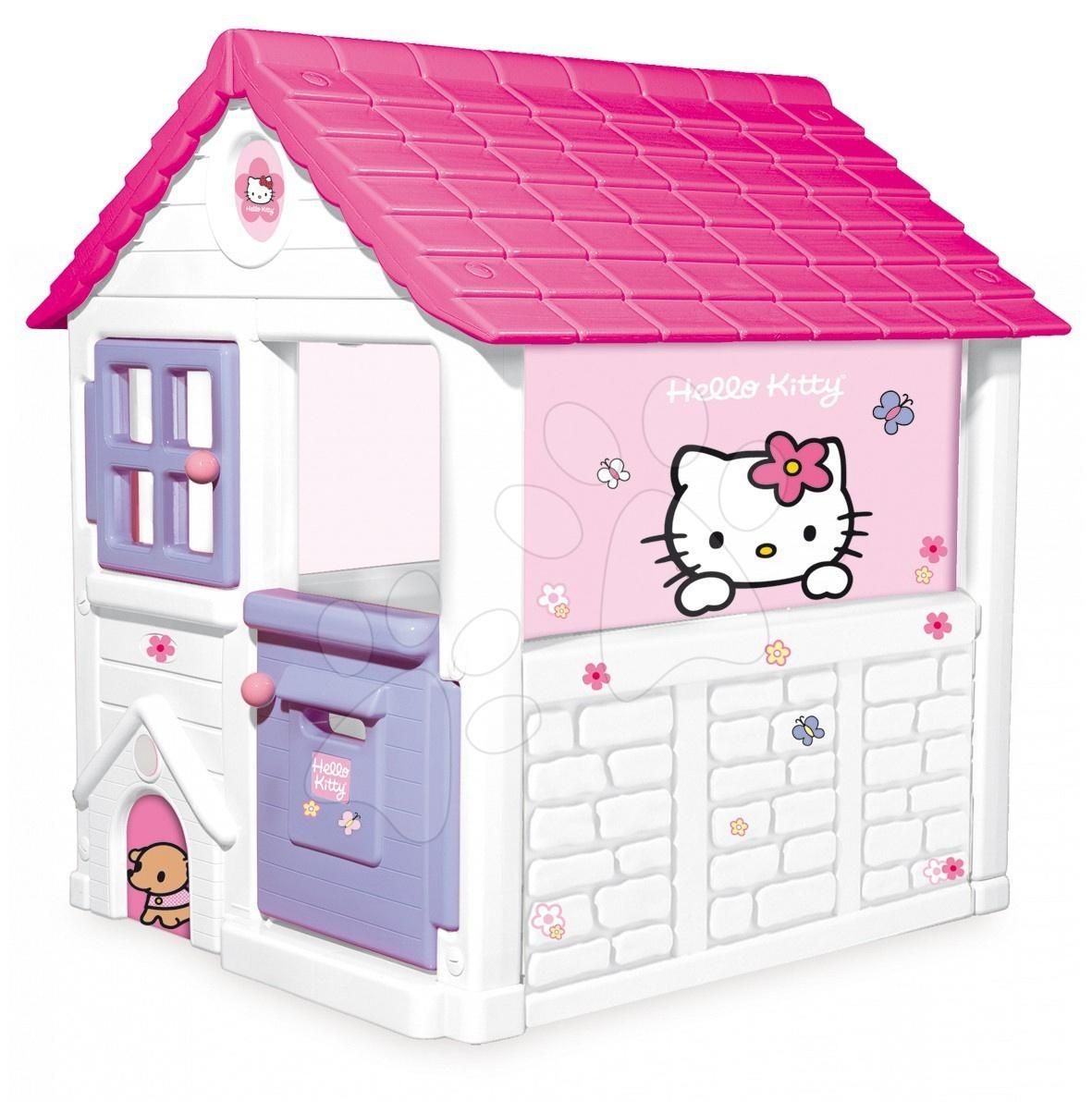Staré položky - Hello Kitty domček Sweet Home Smoby fialový 132 cm vysoký s UV filtrom od 24 mes