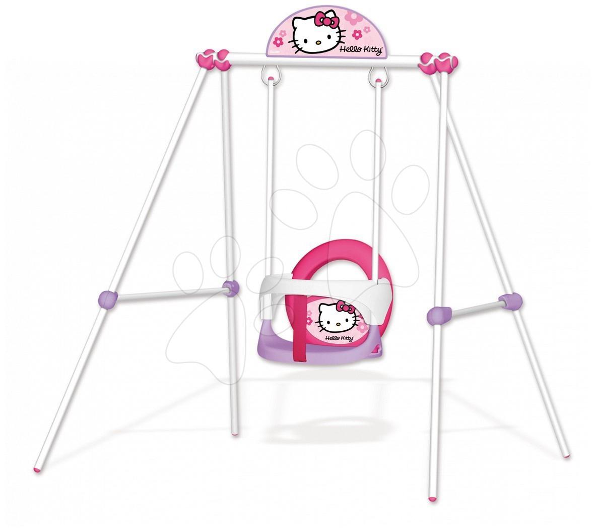 Bébi hintaállvány Hello Kitty Smoby fémvázas (magassága 120 cm) 6 hó-tól