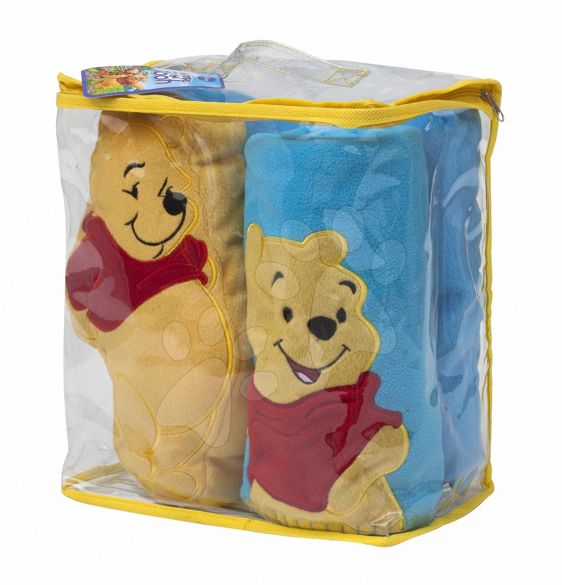Staré položky - Plyšový set Macko Pooh and Blanket Ilanit 100*70 cm