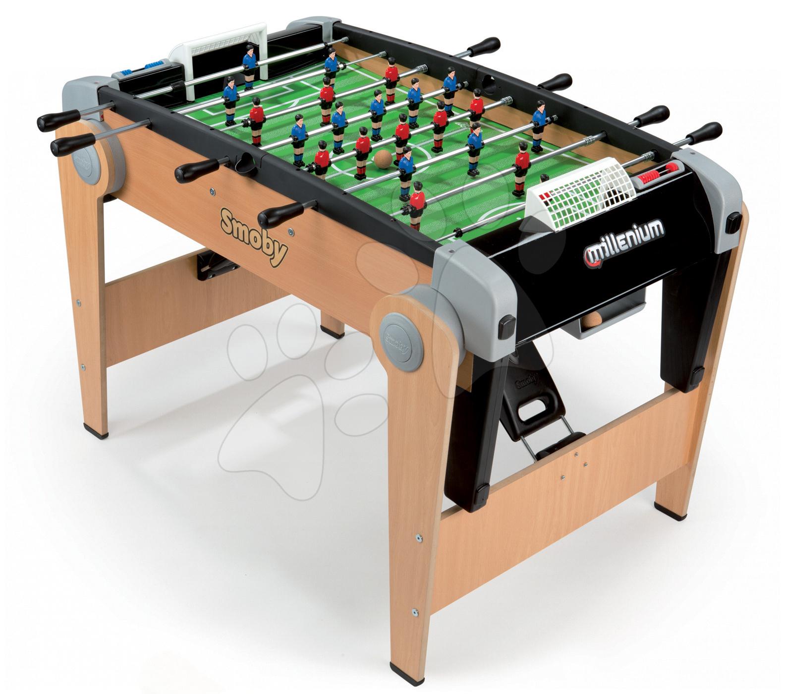 Stolný futbal - Drevený futbalový stôl Millenium Smoby skladací od 8 rokov