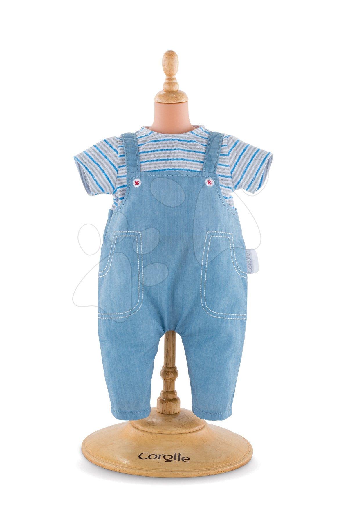 Oblečenie Striped T-shirt & Overall Mon Grand Poupon Corolle pre 36 cm bábiku od 24 mes