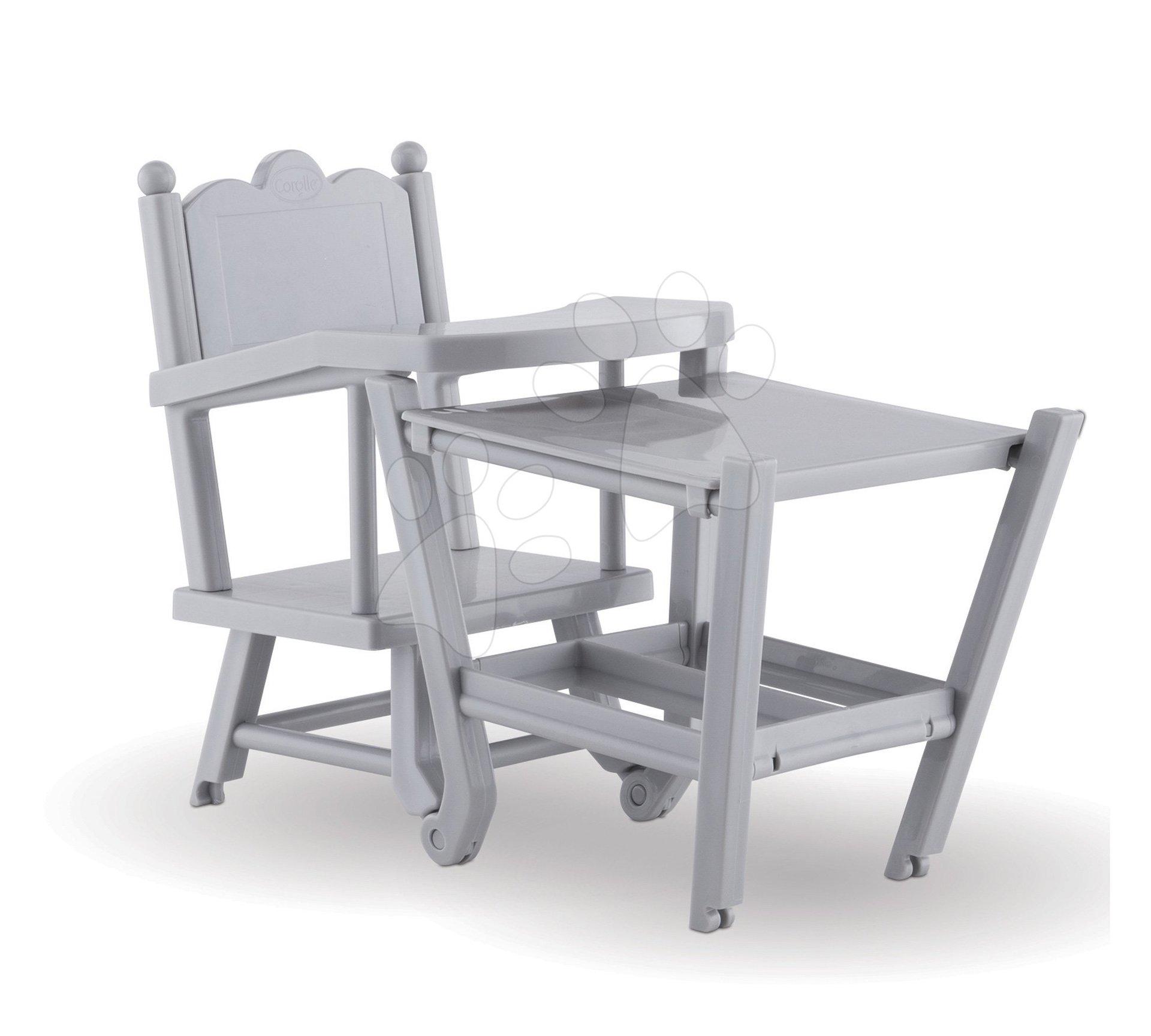 Jedálenská stolička 2v1 Mon Grand Poupon Corolle pre 36-42 cm bábiku od 3 rokov