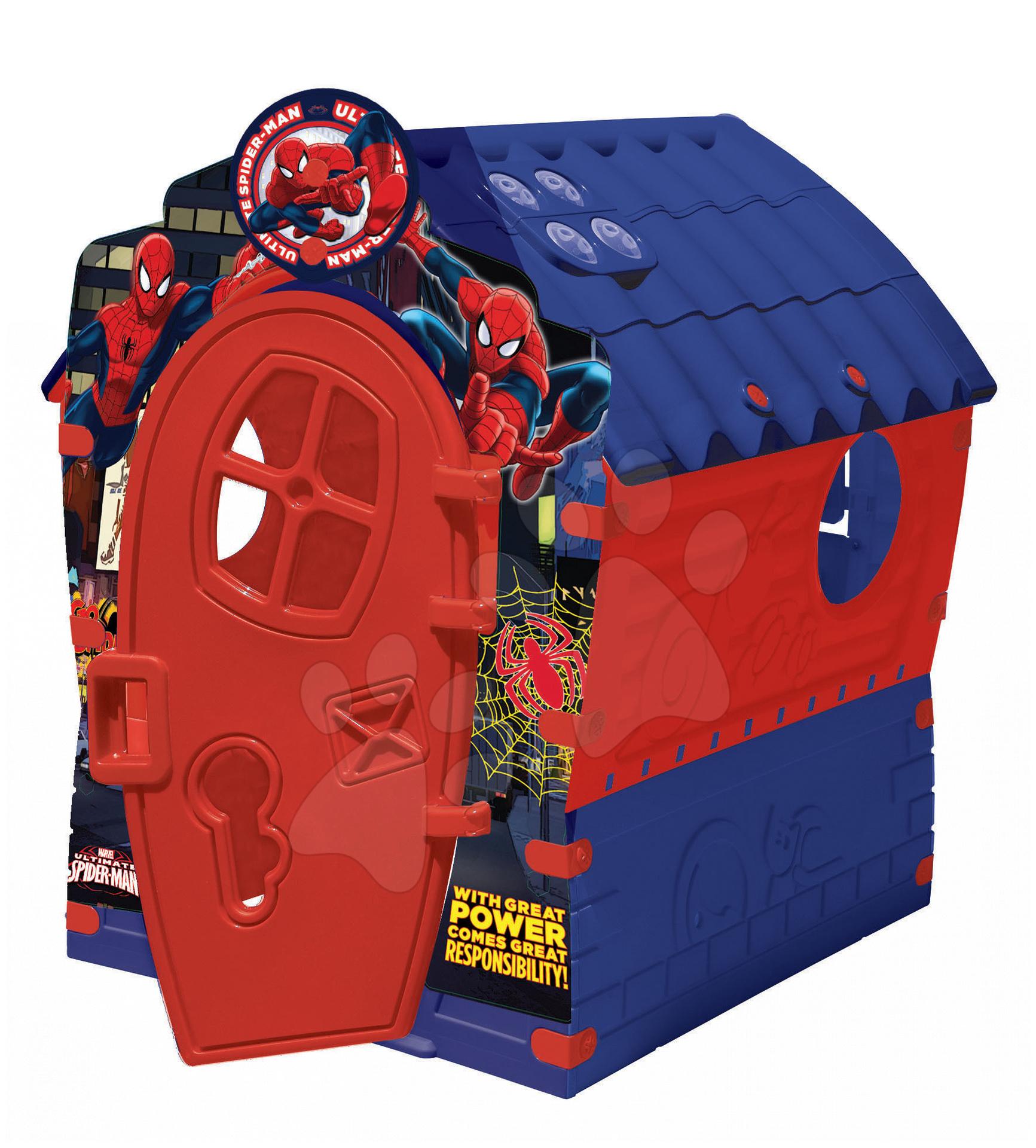 Domčeky pre deti - Domček Spiderman Dream House PalPlay modro-červený od 24 mes