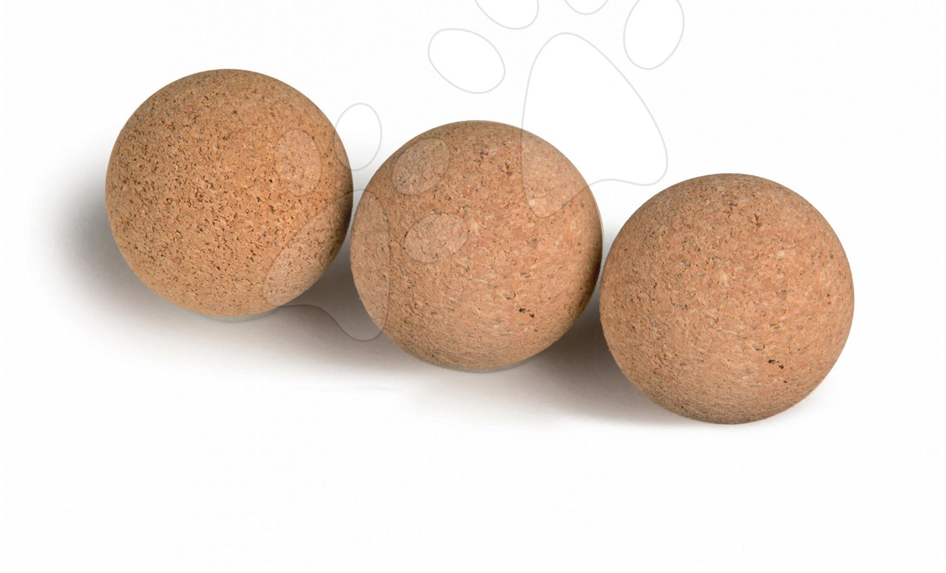 Stolný futbal - Korkové loptičky Smoby 3 ks priemer 35 mm
